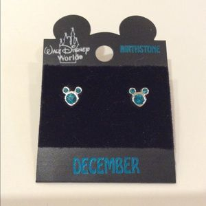 CCO Disney December Birthstone Earrings